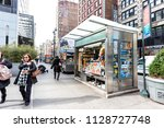 new york city  usa   april 7 ...   Shutterstock . vector #1128727748