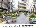 new york city  usa   april 7 ...   Shutterstock . vector #1128727775