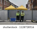 salisbury  uk   july 6  2018 ... | Shutterstock . vector #1128728516