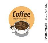 coffee shop logo design element ...   Shutterstock .eps vector #1128734432