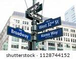 manhattan nyc buildings of...   Shutterstock . vector #1128744152
