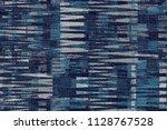 patchwork and zig zag  mixed... | Shutterstock . vector #1128767528