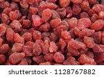 candied strawberries... | Shutterstock . vector #1128767882