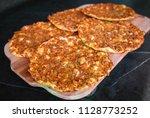 delicious turkish pizza...   Shutterstock . vector #1128773252