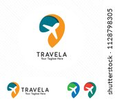 travel and tour logo concept ... | Shutterstock .eps vector #1128798305