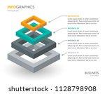 isometric infographic design... | Shutterstock .eps vector #1128798908