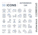 set of vector line icons  sign... | Shutterstock .eps vector #1128803165