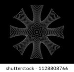 abstract symmetrical three...   Shutterstock . vector #1128808766