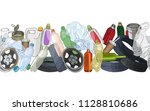 different kinds of garbage....   Shutterstock .eps vector #1128810686