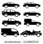 Stock vector vector black cars 112882915