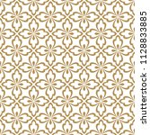 floral pattern in baroque style ... | Shutterstock .eps vector #1128833885