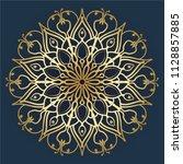 mandala design. vintage...   Shutterstock .eps vector #1128857885