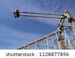 big ferris wheel in an... | Shutterstock . vector #1128877856