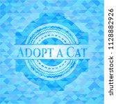 adopt a cat light blue mosaic... | Shutterstock .eps vector #1128882926