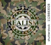 realism camo emblem | Shutterstock .eps vector #1128883028
