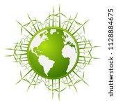 eco friendly concept  green ... | Shutterstock .eps vector #1128884675
