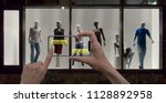 augmented reality marketing... | Shutterstock . vector #1128892958