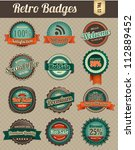 retro vintage badges | Shutterstock .eps vector #112889452