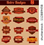 retro vintage badges | Shutterstock .eps vector #112889458