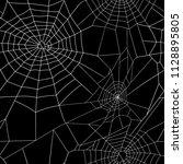 vector white pattern of cobweb... | Shutterstock .eps vector #1128895805