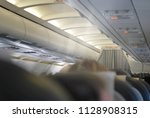 exit information for passengers ... | Shutterstock . vector #1128908315