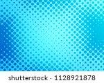 blue pop art retro background... | Shutterstock .eps vector #1128921878