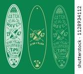 surf board lettering logo hand...   Shutterstock .eps vector #1128934112