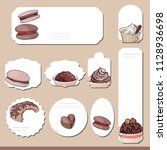 collection with different paper ... | Shutterstock .eps vector #1128936698