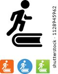 literacy book reading icon | Shutterstock .eps vector #1128945962