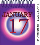january 17 one day calendar... | Shutterstock .eps vector #1128951446