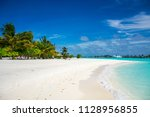 maldive beach panorama | Shutterstock . vector #1128956855