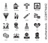 set of 16 icons such as lincoln ...
