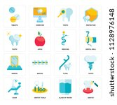 set of 16 icons such as dentist ... | Shutterstock .eps vector #1128976148