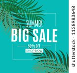 abstract summer sale background ... | Shutterstock .eps vector #1128983648