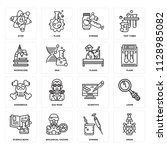 set of 16 icons such as droid ... | Shutterstock .eps vector #1128985082