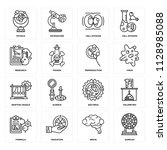 set of 16 icons such as samples ... | Shutterstock .eps vector #1128985088