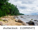 stormy weather. a view of the... | Shutterstock . vector #1128985472