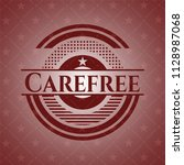 carefree red emblem. retro | Shutterstock .eps vector #1128987068