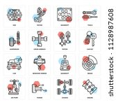 set of 16 icons such as engine  ...   Shutterstock .eps vector #1128987608