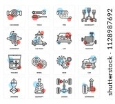set of 16 icons such as...   Shutterstock .eps vector #1128987692