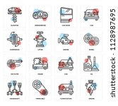 set of 16 icons such as engine  ...   Shutterstock .eps vector #1128987695