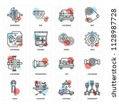 set of 16 icons such as...   Shutterstock .eps vector #1128987728