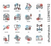 set of 16 icons such as...   Shutterstock .eps vector #1128987752