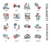 set of 16 icons such as... | Shutterstock .eps vector #1128987842