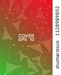 trendy red green cover page... | Shutterstock .eps vector #1128989852