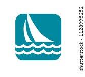 sailboat  sailing. easily... | Shutterstock .eps vector #1128995252