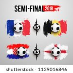 semi final. set of realistic... | Shutterstock .eps vector #1129016846