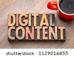digital content    word... | Shutterstock . vector #1129016855