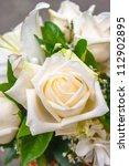 close up cream rose | Shutterstock . vector #112902895
