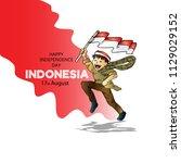 17 august. indonesia... | Shutterstock .eps vector #1129029152